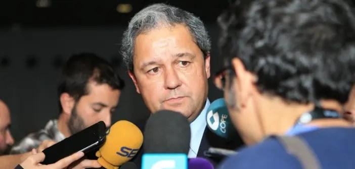 Tino Fernández, presidente del Deportivo, después de la Junta de Accionistas
