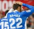Borges se lamenta tras una ocasión fallada en el Sevilla - Deportivo