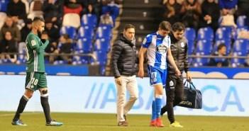 Fede Valverde lesionado en el Deportivo - Betis