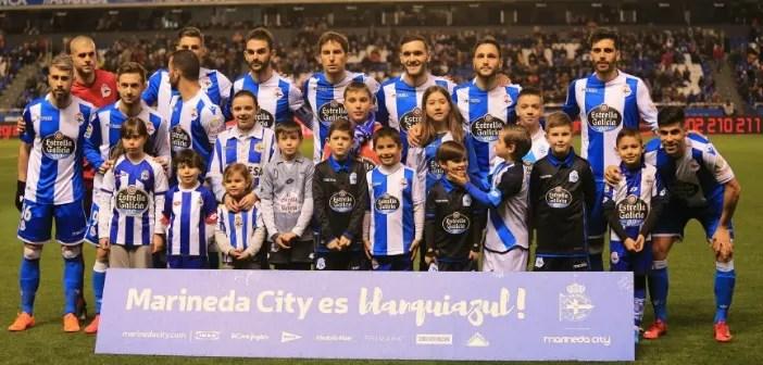 Once inicial del Deportivo ante el Espanyol
