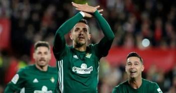 Feddal durante un partido Sevilla-Betis