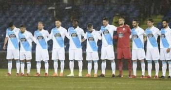 Once inicial del Deportivo en Getafe