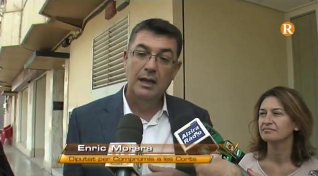 Morera denuncia en Alzira la precarietat de les infraestructures judicials
