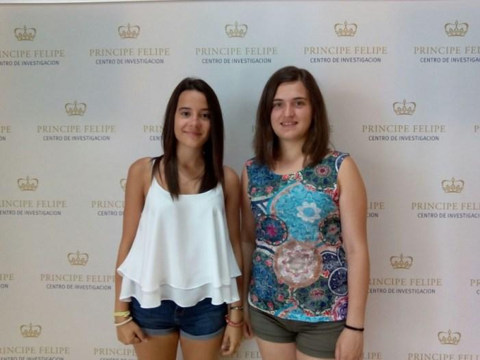 Les carletines Anabel Hervás i Mª Teresa Chinesta participen en el programa Descubre d'investigacions científiques