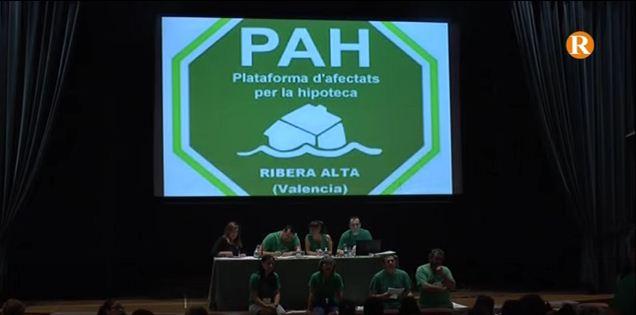 La Plataforma d'Afectats per la Hipoteca presenta  a la Generalitat un pla de xoc