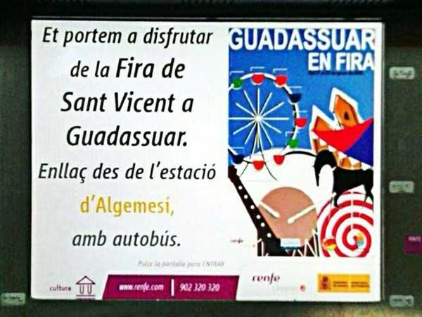 Enguany, al Porrat de Sant Vicent de Guadassuar també en tren