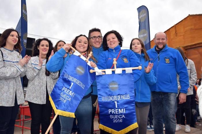 La Falla Xúquer guanya el Concurs de Paelles de la Junta Local Fallera de Sueca