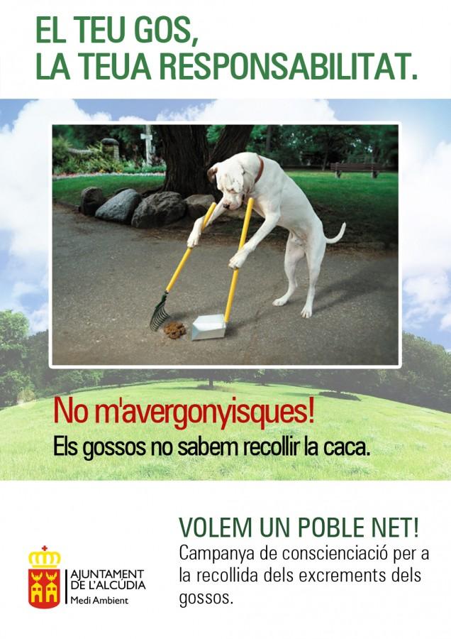 L'Ajuntament de l'Alcúdia enceta una campanya de conscienciació per a la recollida dels excrements dels gossos