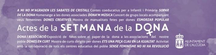 8 DE MARÇ: L'ALCÚDIA COMMEMORA EL DIA INTERNACIONAL DELS DRETS DE LES DONES