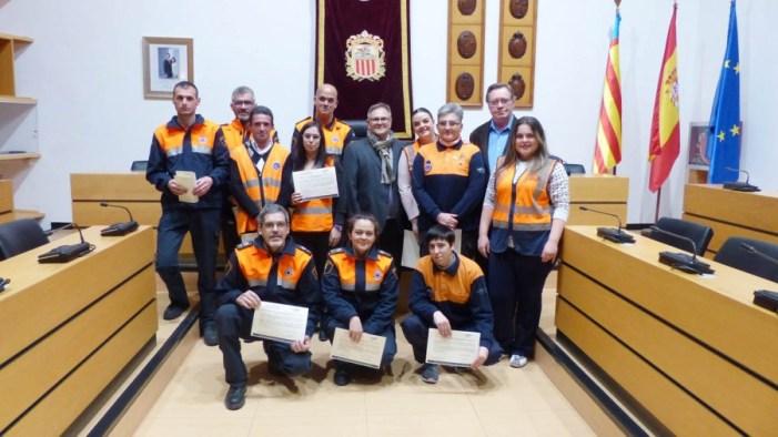 La entrega de diplomas cierra el curso de Protección Civil de Algemesí