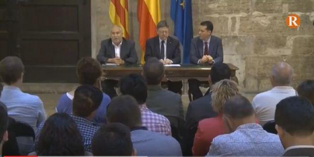 Puig anuncia una nova llei de comarcalització