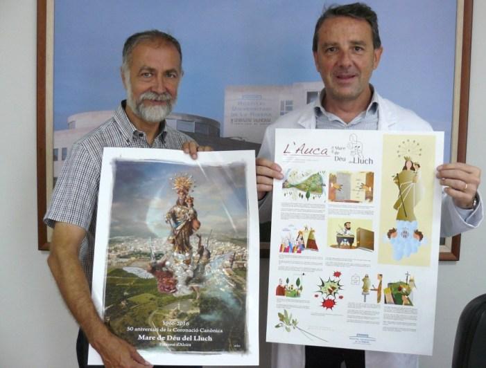 El Hospital de La Ribera, patrocinador de la estampa conmemorativa del 50º Aniversario de la Coronación de la Mare de Déu del Lluch