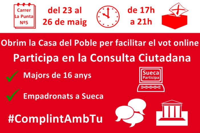 El PSPV-PSOE de Sueca facilitará,el vot per internet a la seua seu.