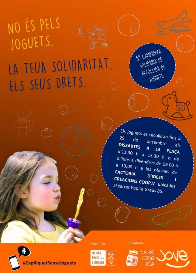 Alginet celebra la V campanya solidària de recollida de joguets.