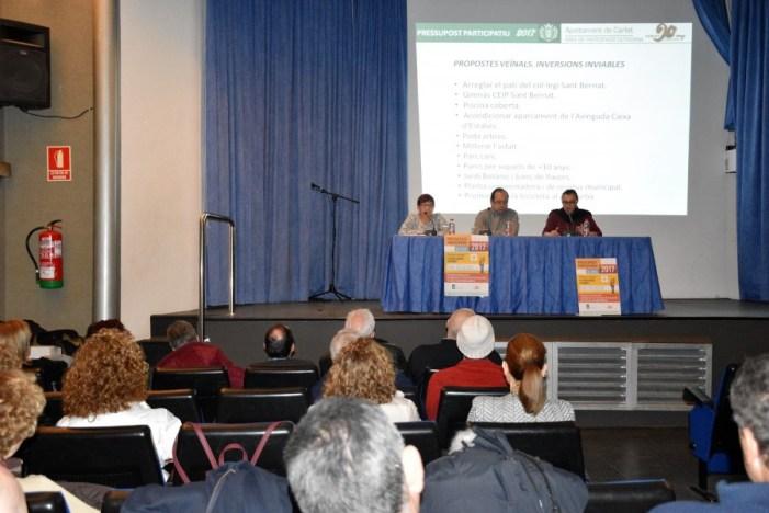 Carlet vota des del 21 de desembre 10 propostes d'inversió per al 2017