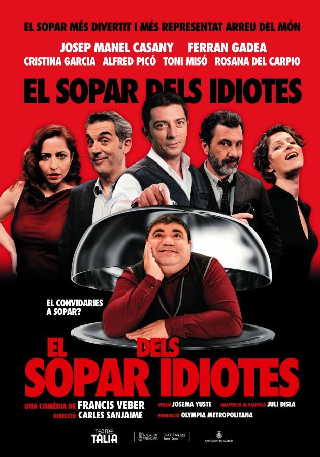 Almussafes, destí d'un dels grans èxits de la comèdia europea actual, 'El sopar dels idiotes'