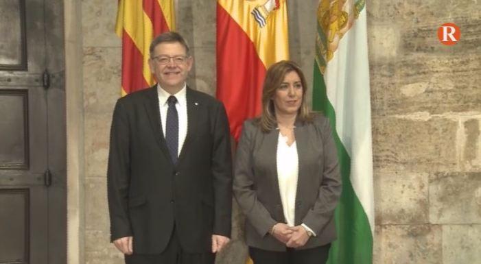 Encontre entre Puig i Díaz per a abordar el model de finançament autonòmic