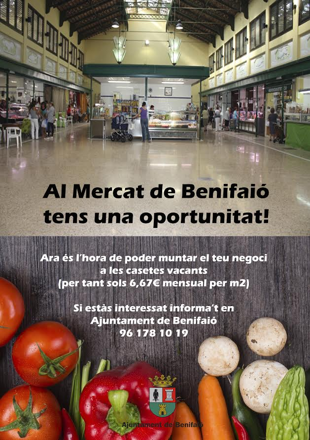 El Ayuntamiento de Benifaió impulsa el Mercado Municipal
