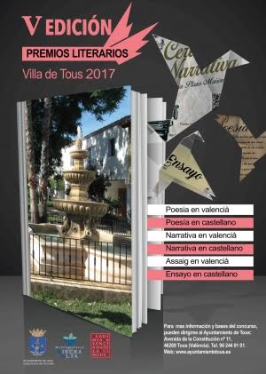 Tous convoca la cinquena edició dels seus premis literaris