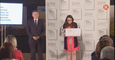 Puig i Oltra presenten el primer Pacte Valencià contra la Violència Masclista