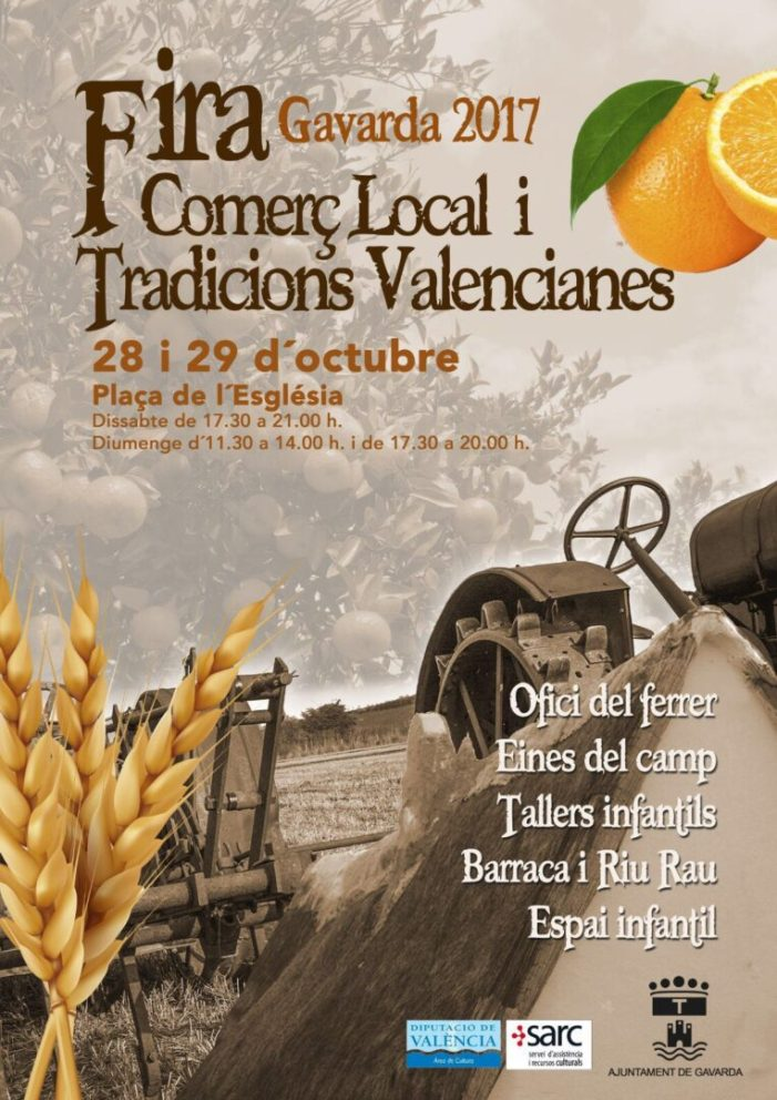 Gavarda acull la «Fira del Comerç Local i Tradicions Valencianes»