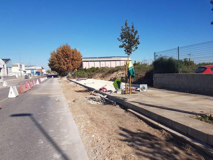 Comencen les obres d'adequació del nou tram d'accés al poliesportiu Pérez Pu