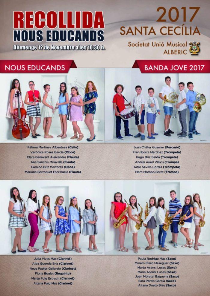 La Societat Unió Musical d'Alberic acull 25 nous educands