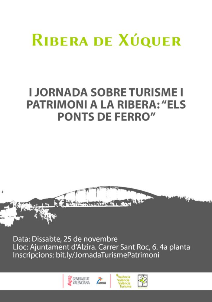 El Consorci de la Ribera celebrarà a Alzira la I Jornada sobre Turisme i Patrimoni de la Ribera