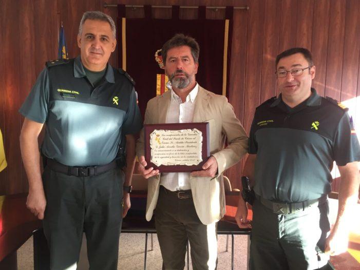 El alcalde de Alcàntera de Xúquer, reconocido por la Guardia Civil de Càrcer