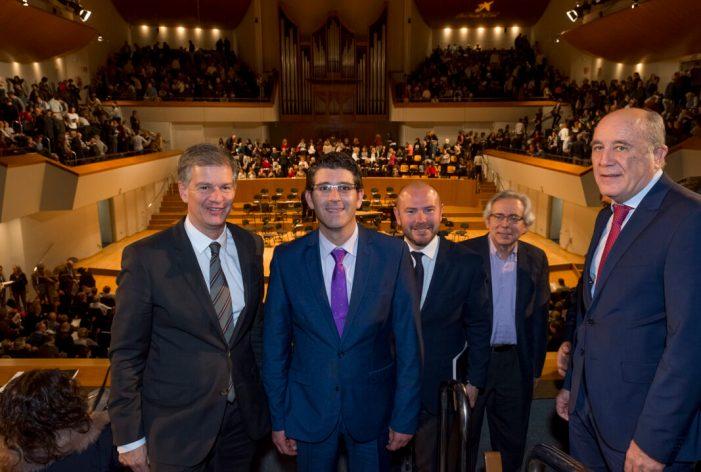 Jorge Rodríguez assisteix al concert participatiu del Mesías de Händel