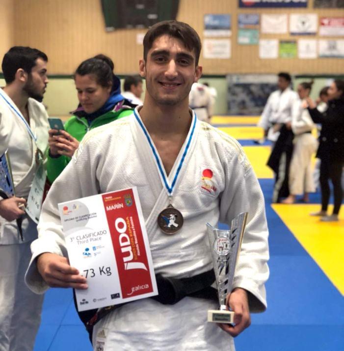 El alzireño Alberto Varela obtiene la medalla de broce en la  Súper Copa de España Sénior de Judo en Marín, Pontevedra