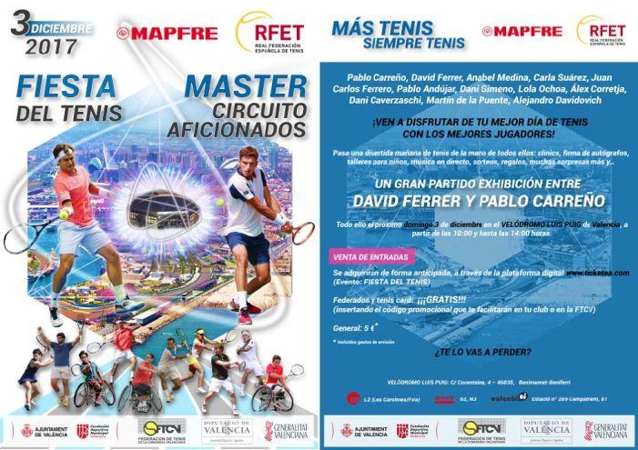 La Diputació pren partit en la primera Festa del Tennis espanyol en el Velòdrom Luis Puig de València