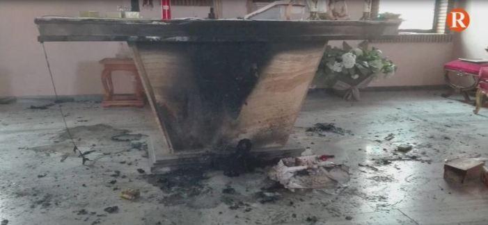 Incendi en l'Església de Benicull de Xúquer