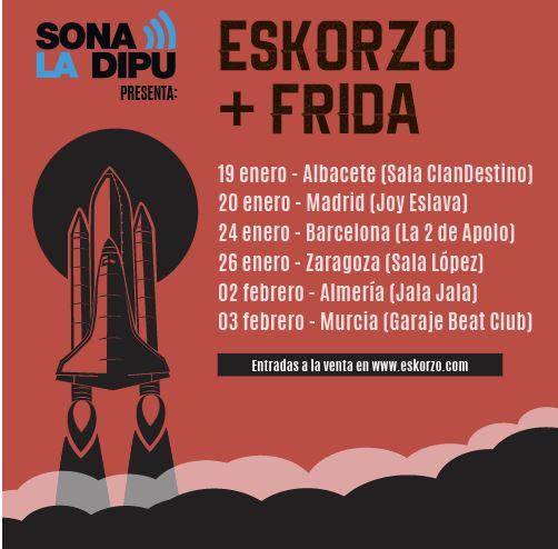 Frida celebrarà el seu triomf en el Sona la Dipu amb una gira nacional amb Eskorzo