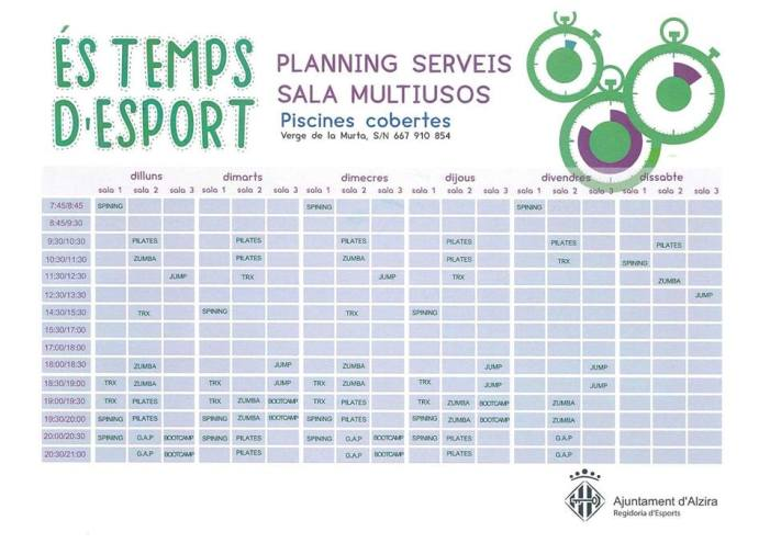 Àmplia oferta esportiva d'activitats per a 2018