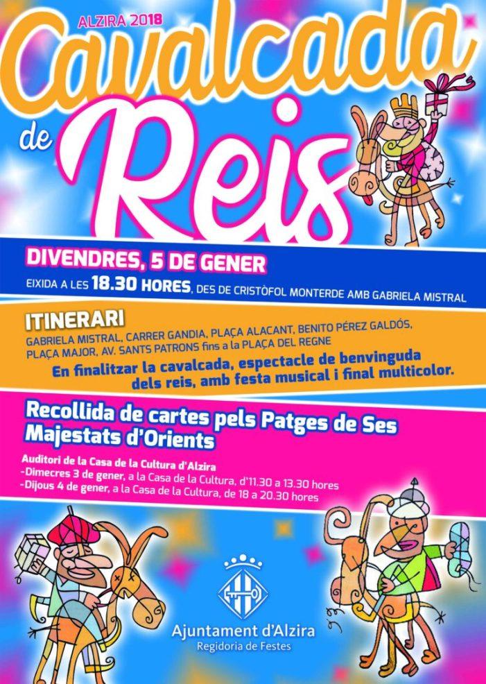 Alzira presenta el recorregut de la cavalcada de Reis.Serà divendres 5 de gener a partir de les 18.30 hores