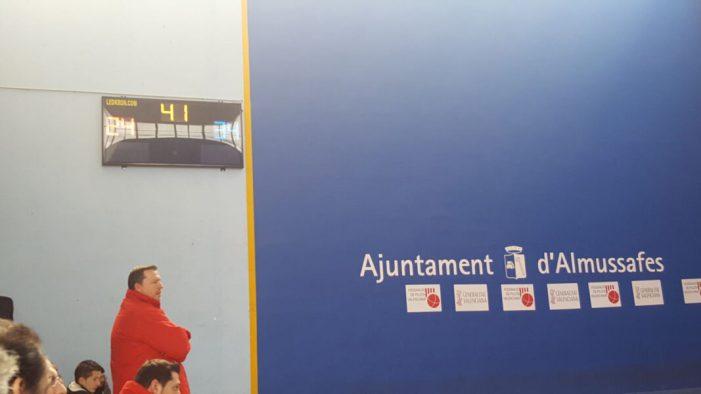 El Frontó Municipal d'Almussafes estrena marcador electrònic i sistema de megafonia