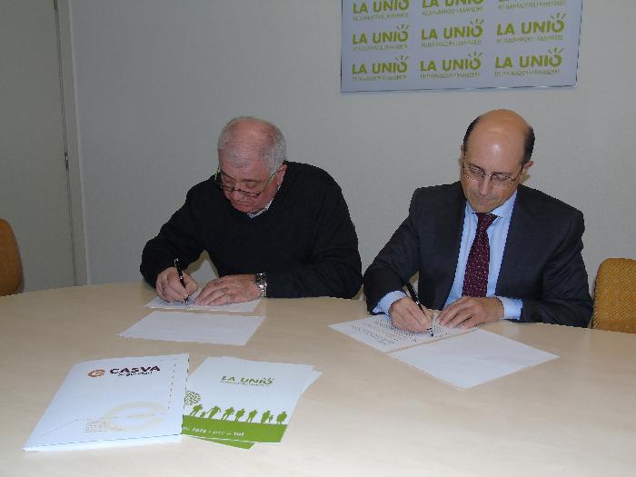 LA UNIÓ de Llauradors y Casva Seguridad firman un acuerdo de colaboración con condiciones muy ventajosas para los socios de la Organización Profesional Agraria