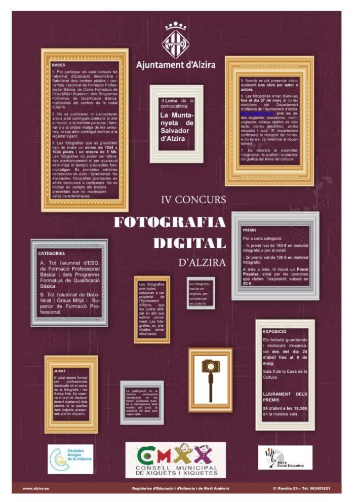 """El IV Concurs de Fotografia Digital d'Alzira  porta com a lema """"La Muntanyeta del Salvador d'Alzira"""""""