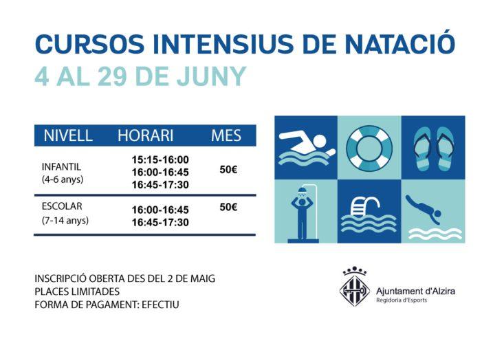 L'Ajuntament oferix cursos intensius de natació per al mes de juny