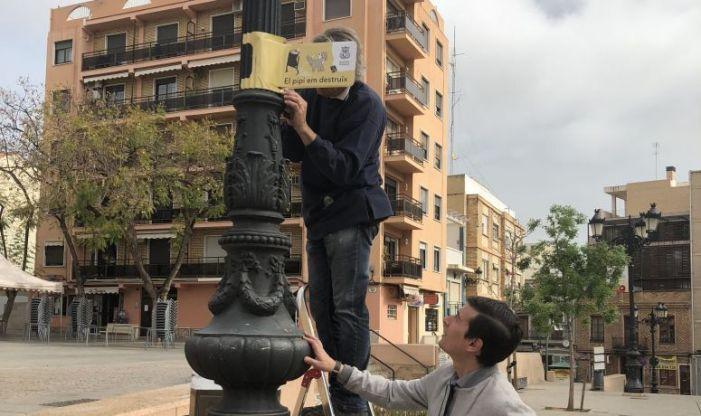 """Fanals amb missatge en la nova campanya de civisme i conscienciació de Burjassot, """"Volem millorar, ajuda'ns"""""""