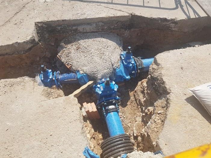 Les obres de connexió d'aigua potable a la urbanització El Racó complixen el termini previst