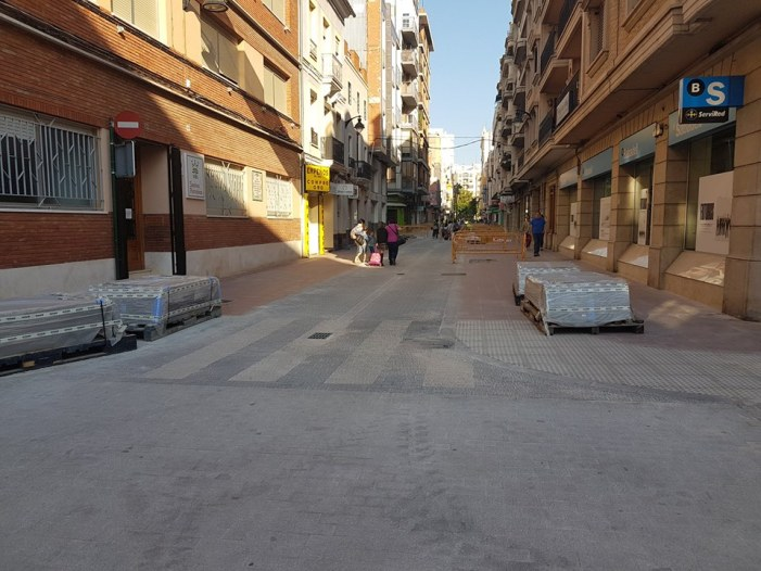 Les obres de condicionament de la segona fase al carrer Benito Pérez Galdós van segons el que està previst
