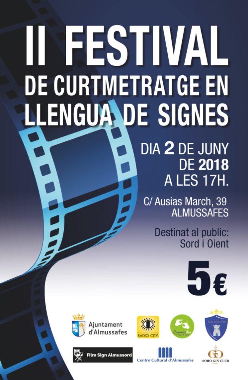 El II Festival de Curtmetratges en Llengua de Signes d'Almussafes arriba el 2 de juny