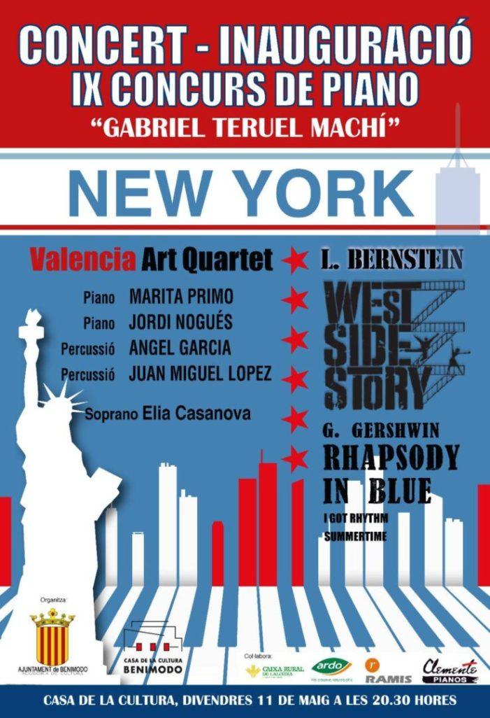 IX Concurs de Piano de Benimodo s'inaugura amb un espectacular concert inspirat a New York