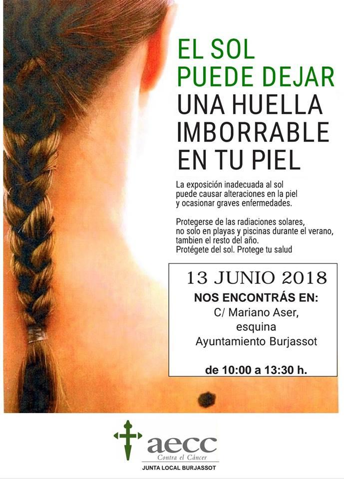 Revisió gratuïta de la pell de la mà de la Junta Boja contra el càncer de Burjassot