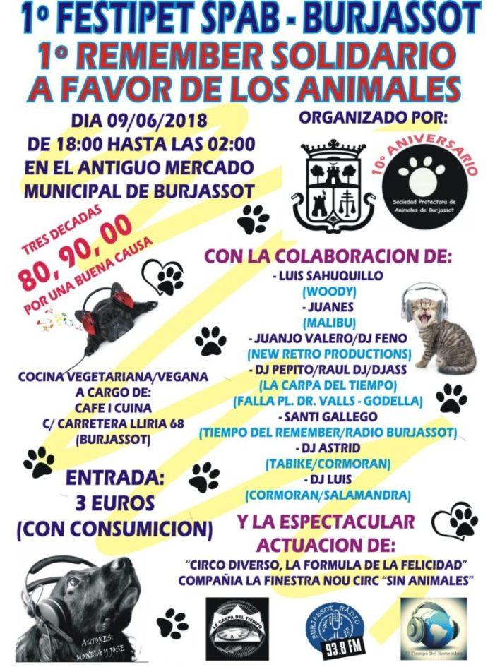 Burjassot acull la seua I Festipet SPAB en benefici dels animals de la protectora