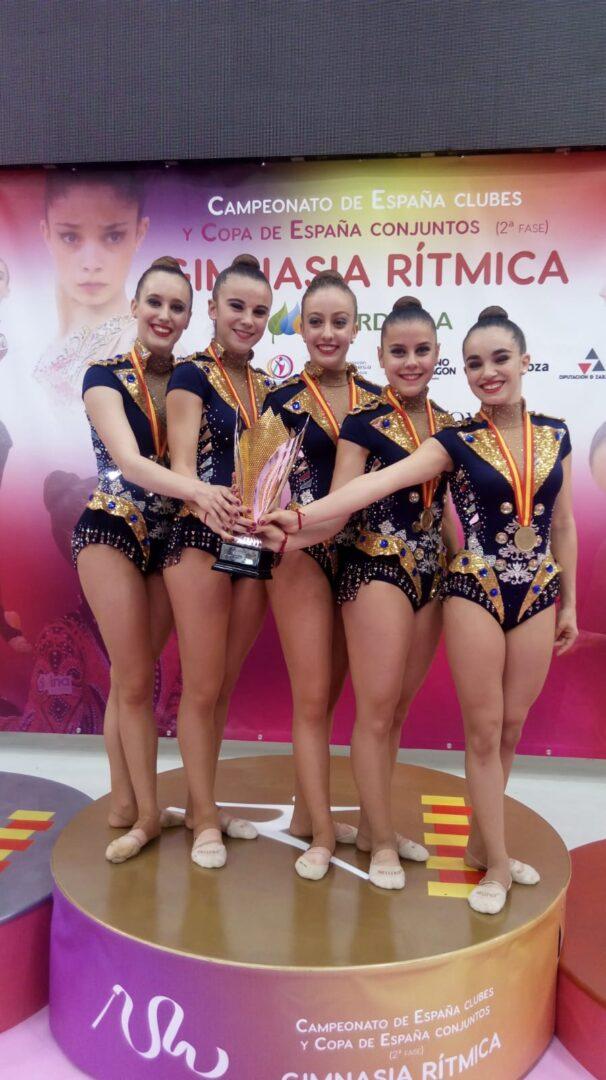 EL Club Gimnàtica Rítmica Roquette Benifaió, Campió de la copa d'Espanya