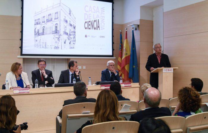 Ribó manifesta el compromís de l'Ajuntament amb la ciència i la innovació en la inauguració de la Casa de la Ciència i nova seu del Centre Superior d'Investigacions Científiques a València