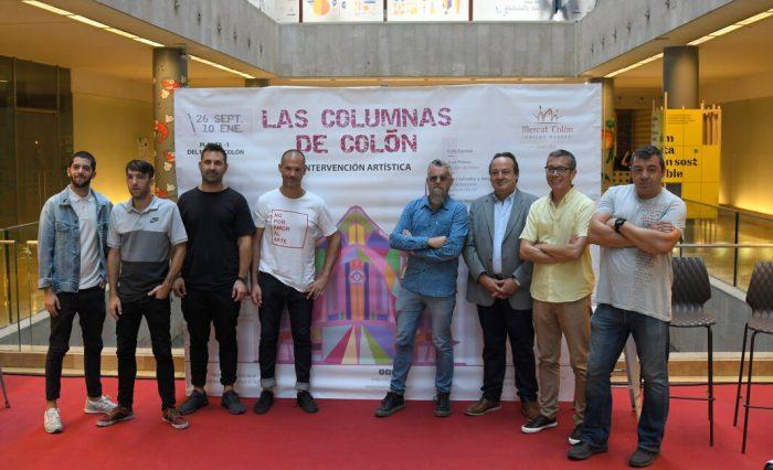 8 de les columnes del Mercat Colón han sigut intervingudes per artistes de prestigi